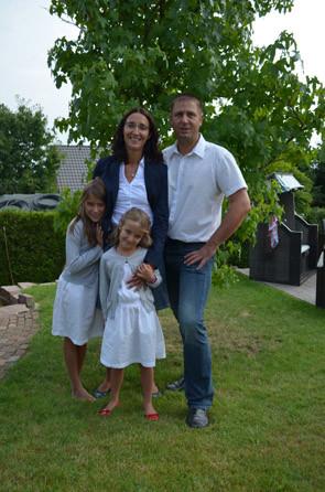 Arne Behre mit Familie